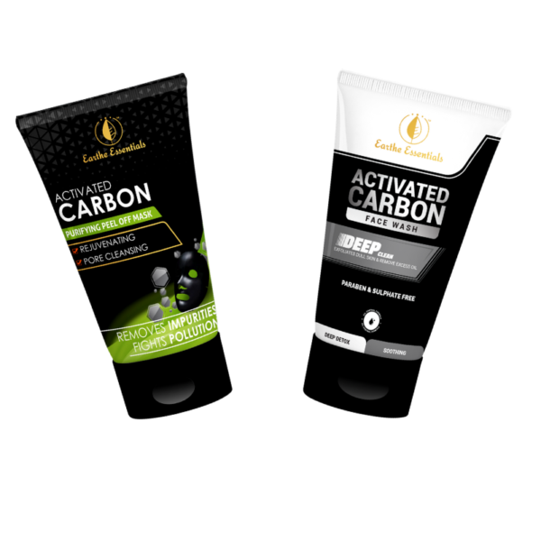 activated carbon face wash and face mask combo